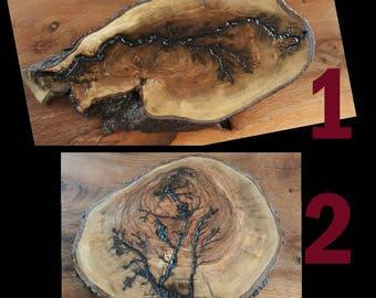 high voltage burned olivewood slices,woodplate,servingboard,handmade servingplate