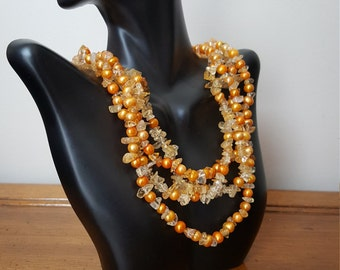 Vintage pearl necklace, Freshwater pearls