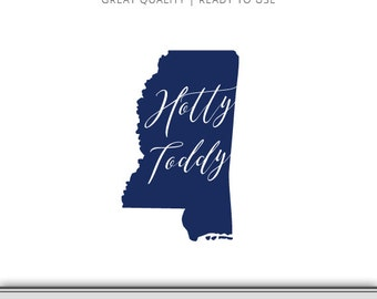 Ole MIss Rebels - Mississippi Graphic - Hotty Toddy - SVG file - Cut Files - Mississippi SVG - DXF file - Ole Miss Football - Ready to Use!