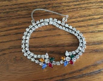 B. David Multicolored Rhinestone with Stars Bracelet 1186