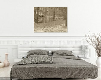 Footsteps in the Sand, Wall Art, Canvas Print