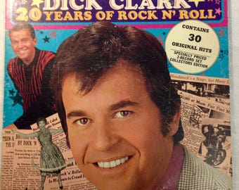 Dick Clark 20 Years Of Rock N Roll DOUBLE Vinyl Buddah Record Album BDS 5133-2 VG 1973