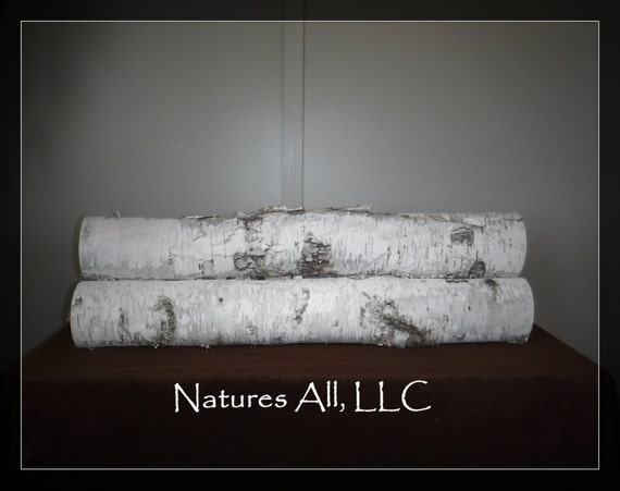 Decorative Fireplace Logs Xxl White Birch Logs 3 Piece