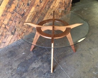 Adrian Pearsall Style Walnut Sculpted Dining Table