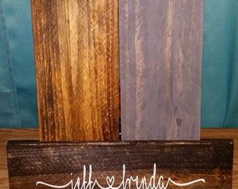 Couple wood sign, name signs, Valentine's signs, love signs, custom wood signs