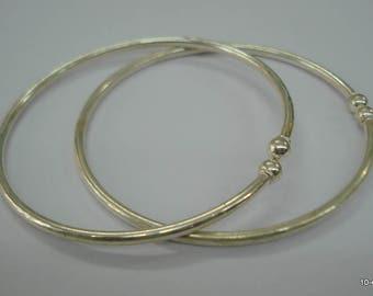 ethnic tribal silver anklet feet bracelet bangle kada pair armlet rajasthan india