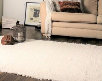 Rugs White Ivory Rugs,  Scandinavian rugs, Nursery rug, Modern rug, bohemian rug, living room rug, bedroom rug, Cotton| Eco-Friendl