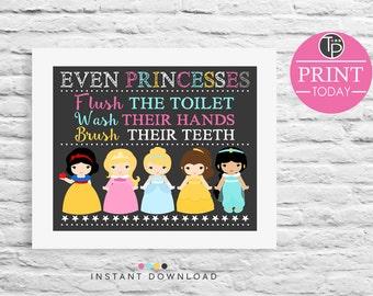 Bathroom Signs Rules kids bathroom rules | etsy