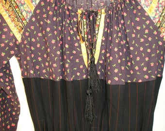Vintage 70s Dress Arpeja Young Edwardian Festival Vintage Fashion Dress