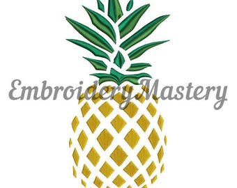 PINEAPPLE Machine Embroidery Design. Fruct embroidery. Food embroidery design. Summer digital embroidery. Ananas broderie. Instant download