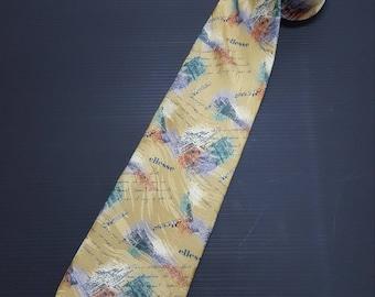 Vintage ellesse ties, Silk ties, Made in Japan, Japan tie, Gifts for him