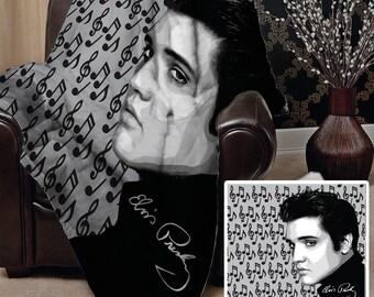 Elvis Presley Design Soft Fleece Blanket Cover Throw Over Sofa Bed Blanket