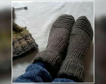 Super cosy Aran wool socks, handmade in Ireland