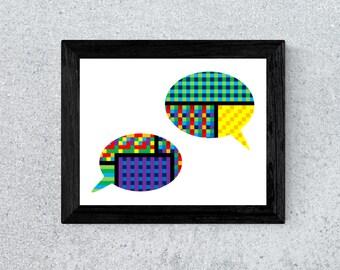 Speech Bubbles Print