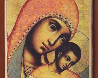 Simon Ushakov.Our Lady of Kykkos.Detail.Christian orthodox icon. FREE SHIPPING.