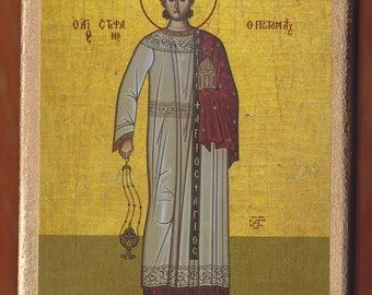 Saint Stephen. Christian orthodox icon.FREE SHIPPING.