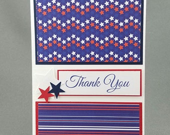 Handmade Military Thank You Card