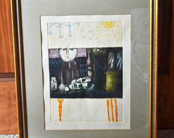 Vintage Leticia Tarrago Etching, Original Signed And Numbered Etching 52/300