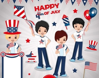 Items similar to 50% OFF Fourth of July clipart, Independence day ...