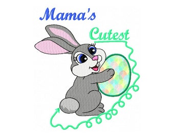 Kids Easter Embroidery Design - Newborn Baby Embroidery Design - Mamas Baby Embroidery Design - Bunny Embroidery Design - Baby Shower Bunny