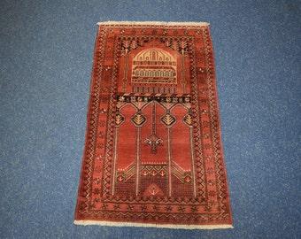 Vintage Turkmen Prayer rug