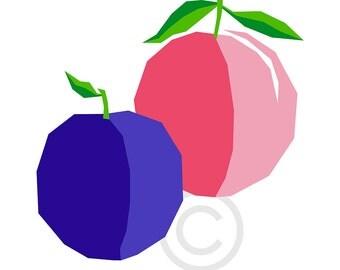 Plum-Peach