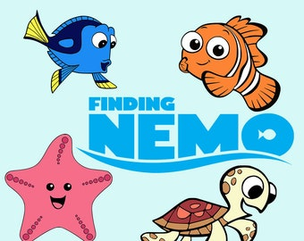Finding Nemo SVG DXF Dory Finding Nemo Logo Clipart Cut File Printable Cricut Silhouette