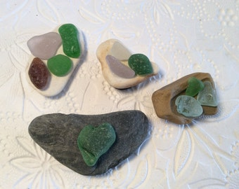 Sea glass/pottery fridge magnets