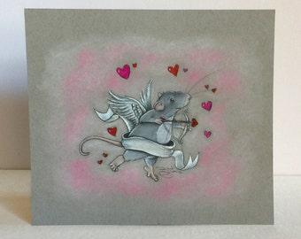 "Original Drawing of ""Cupid Rat"""