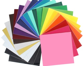 Oracal 651 Glossy Vinyl  24 - 12 x 12  Sheets Assorted Colors