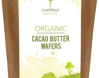 Livemoor Organic Cacao Butter Wafers - 400g - Soil Association Certified Organic