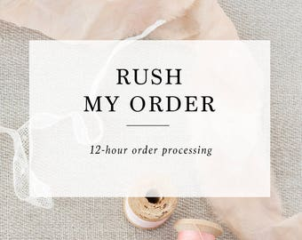 Add-on : 12 Hours Rush Order