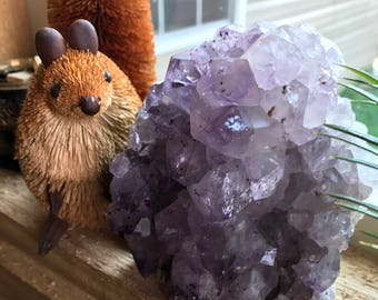 Standing Amethyst Cluster, Mini Cathedral, Raw,  Natural, Brazil, 1.83 Lbs, CR1535