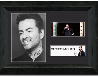 George Michael 35 mm Film Cell Display Stunning Signed