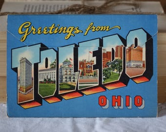 Vintage TOLEDO, OHIO images folder - Greetings from Toledo, Ohio - Vintage 1950s