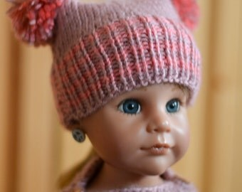 """Knitted Hat for 18"""" Doll"""