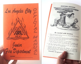 Los Angeles City Junior Fire Department Official Manual 1944 California Ephemera