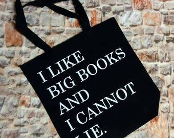 Book lover bag, I like big books bag, book tote, I love books bag, book lover bag