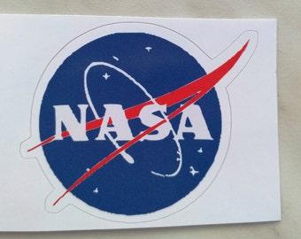 Vinyl Sticker #10.  NASA sticker. Tumblr vinyl stickers, Vinyl Decal, Laptop Vinyl Stickers, Fun Stickers.