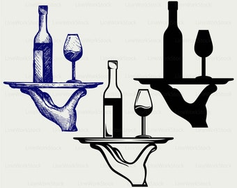 Wine bottle svg,drink clipart,alcohol  svg,wine silhouette,wine cricut cut files, clip art,glass digital download,bottle designs,svg,dxf