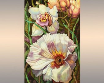 Floral painting | Flowers Oil Painting on Canvas | Original Artwork | Hand Painted | Wall Art