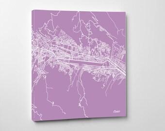 Cusco Street Map Print Map of Cusco peru Map, Cusco Poster Art 7179S