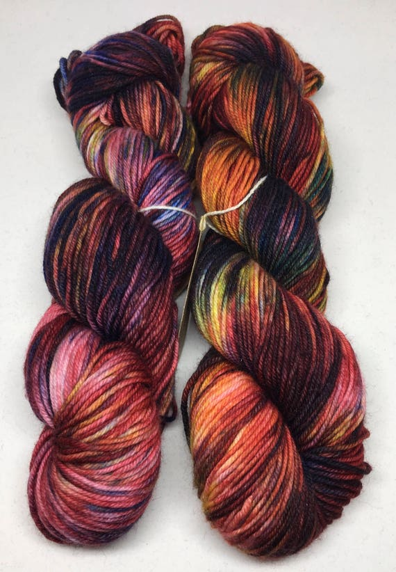 Hand Dyed DK Weight Yarn_West Texas Sunset_Frio DK Base *Irregular