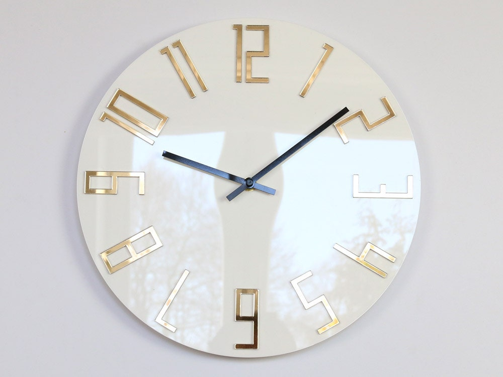 Large Wall Clock Mirror Gold Wall Clock Gift Wall Decor