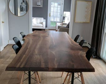 Live Edge Walnut Dining Tables