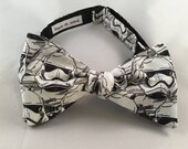 Stormtrooper Star Wars Bow Tie, Self Tie or Pre Tied Bow Tie, The New Order, Rogue One, Darth Vader, The Force Awakens, Dapper On Arrival