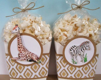 Safari Favor Boxes, Jungle Favor Boxes, Zoo Favor Boxes, Favor Boxes, Zoo Popcorn Boxes, Jungle Popcorn Boxes, Safari Popcorn Boxes,