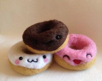 Trio Of Kawaii Doughnuts