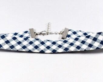 RIMJHIM, Choker Necklace, Summer Choker Necklace, Fabric Trim