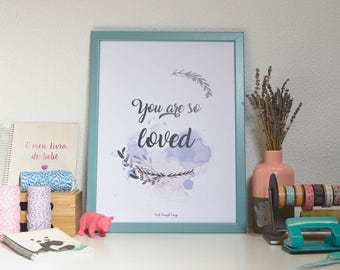You are so loved | baby Harry Potter quote - nursery print A3